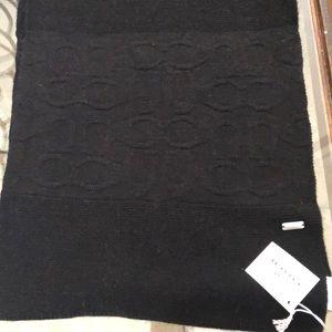 Coach black scarf
